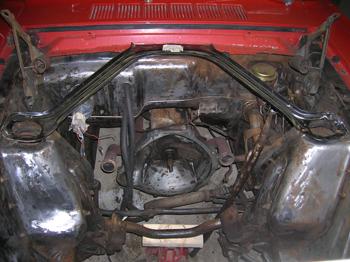 mustnag engine compartment