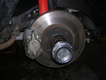 front brakes after