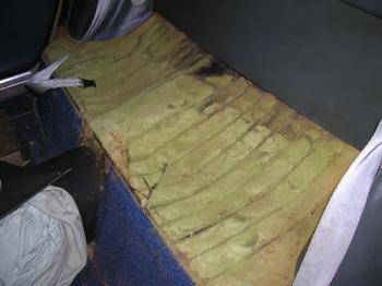 disintergrated padding
