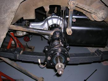 Suspension installed