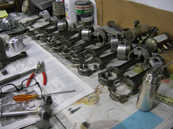 removing old pistons