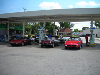 gassing up