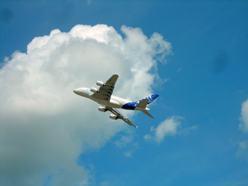 a380 in the air