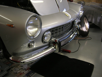 newly chromed bumper