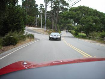 Ferraris on the road