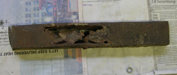 rotted frame piece