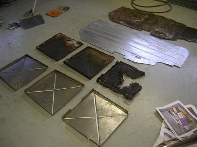 floor pan sections