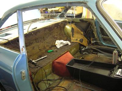 interior stripped